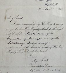 Letter from Winston Churchill