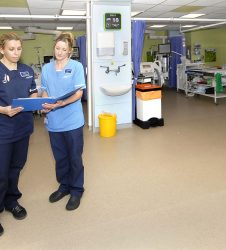 Nursing staff on Intensive care ward