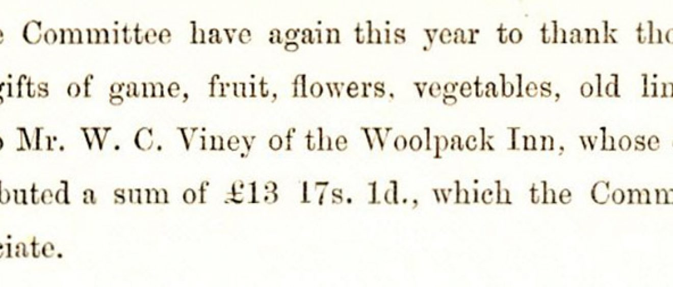 image of extract from the SGI annual report 1897, mentioning Spot's contribution to fundraising