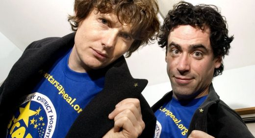 Actors Julian Rhind-Tutt and Stephen Mangan promoting the Stars Appeal